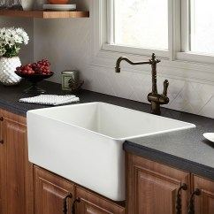 Kitchen Sink White Carpenter Cabinet Farm Hillside 30 Inch Wide Apron From Dxv