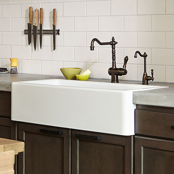 36 kitchen sink grey countertops farm hillside inch from dxv