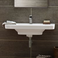 Bathroom Sinks - Lyndon 33 Inch Wall-Hung Trough Bathroom ...