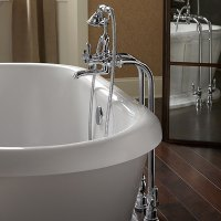 Tub Faucet- Traditional Floor Mount Tub Filler with ...