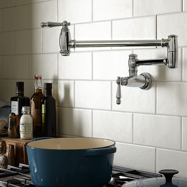 kitchen pot filler gold faucets fillers traditional faucet from dxv