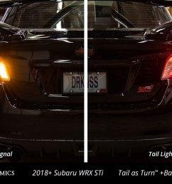 2018 subaru wrx sti with diode dynamics tail as turn backup module installed [ 1500 x 1000 Pixel ]