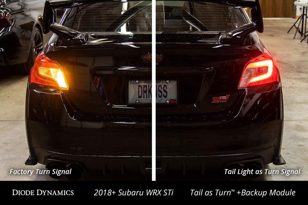 medium resolution of 2018 subaru wrx sti with diode dynamics tail as turn backup module installed