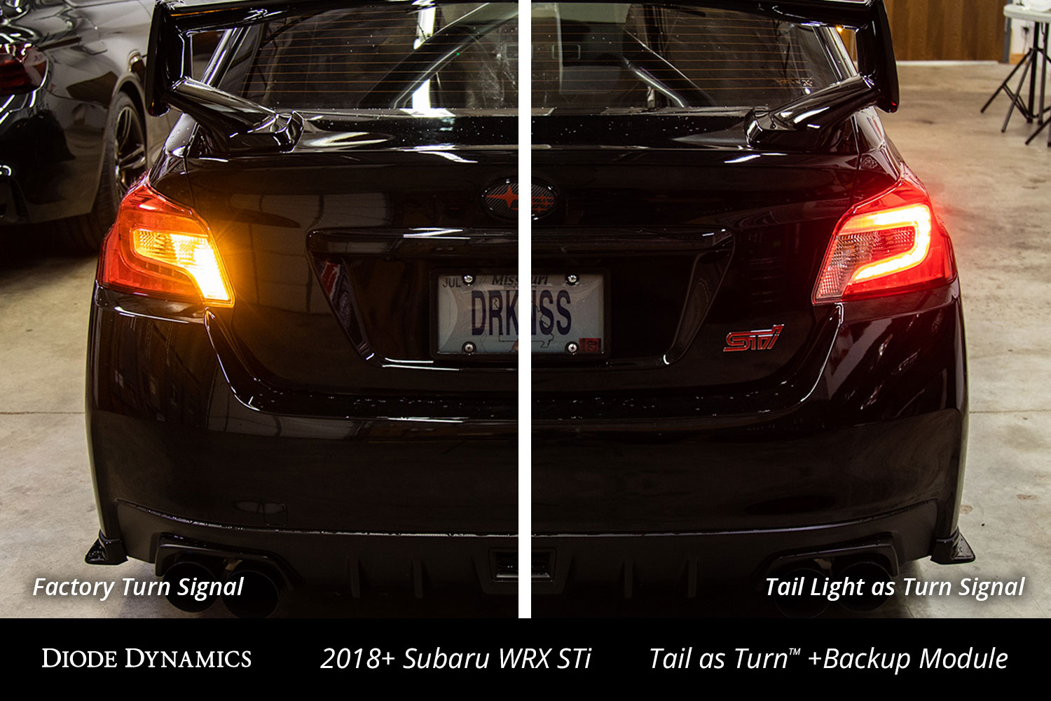 hight resolution of 2018 subaru wrx sti with diode dynamics tail as turn backup module installed