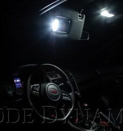 2018 subaru wrx sti with diode dynamics interior led conversion kit [ 1500 x 1000 Pixel ]