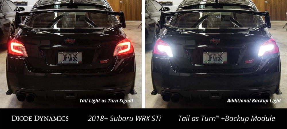 medium resolution of diode dynamics tail as turn backup module installed on 2018 subaru wrx sti