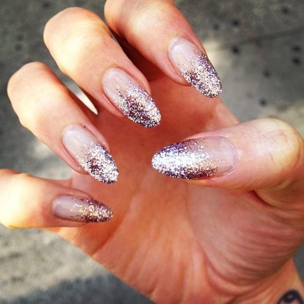 Lilac Glitter Gradient Nails Stella Rose Ss