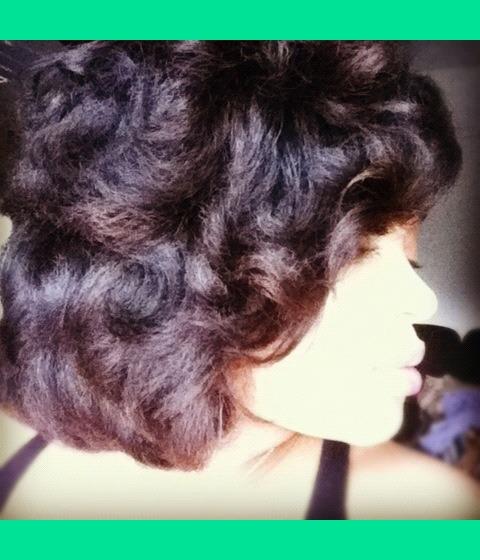 Flexi Rod Set On Natural Hair Kearston J S Photo Beautylish