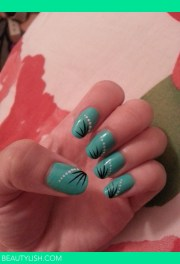 mint turquoise with simple nail