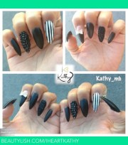 black matte stiletto nails kathy