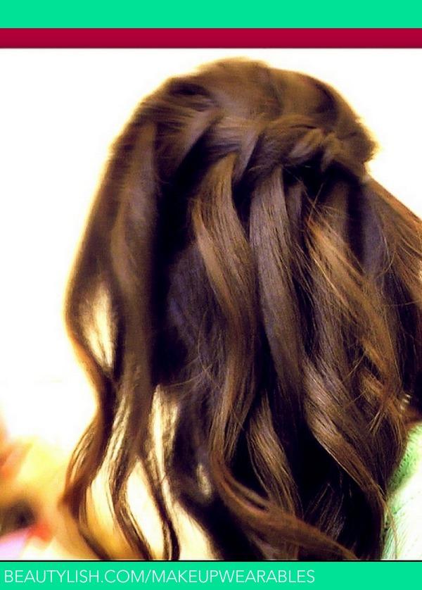 Waterfall Fishtail French Braid HalfUP Hair Tutorial  Everyday Hairstyles  Easy  Tina