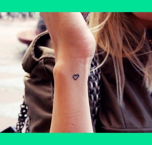 inner wrist heart tattoo  Lorren Ws Photo  Beautylish