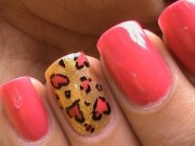 heart leopard nail art tutorial