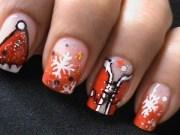 sexy santa girls - christmas nail