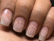 romantic lace nail art - white