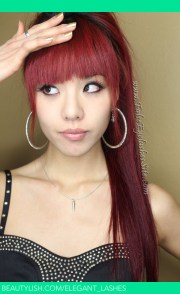 redhead with bangs