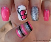 butterfly nails claudia .'s