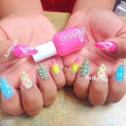 stiletto nails colorful kathy