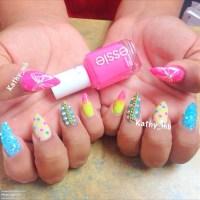 Stiletto nails colorful   Kathy B.'s (Iheartkathy) Photo ...