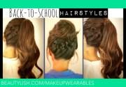 hair tutorial cute -school