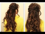 cute twisted-flip - updo