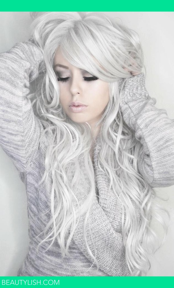 Silver Curly Hair  GlamourPalette xs GlamourPalette