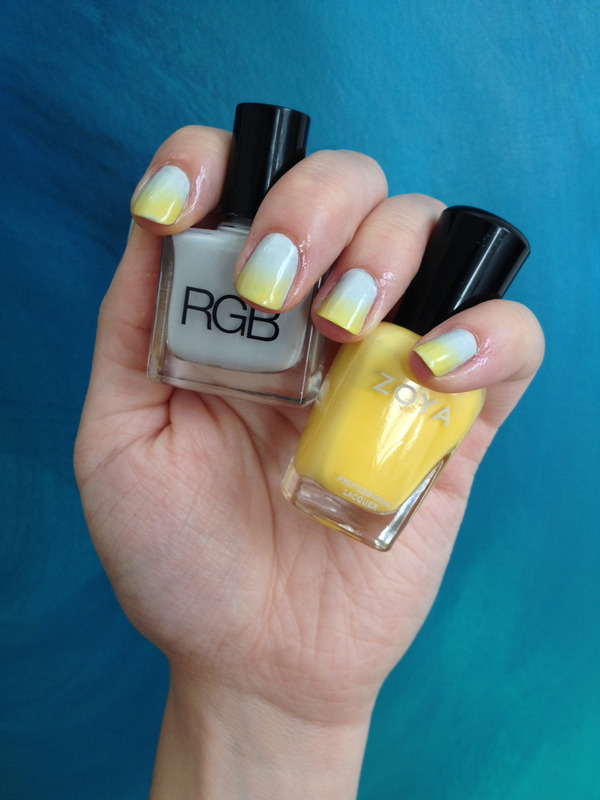 Grey Ombre Nails : ombre, nails, Yellow, Ombre, Nails, Latiffa, Photo, Beautylish