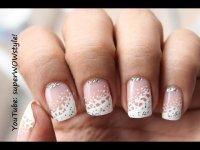 Dainty & Elegant !! Lace Nail Art French White Tip Nails ...