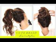 cute braids -school hairstyles