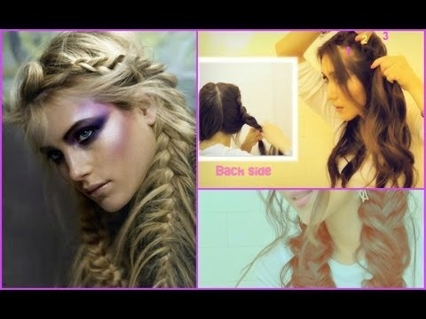 FISHTAIL BRAID PIGTAILS DUTCH FRENCH BRAIDED UPDO ON