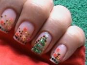 christmas nail art tutorial - easy