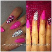 pink stiletto nails kirsty .'s