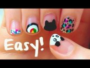 diy easy nail art design short