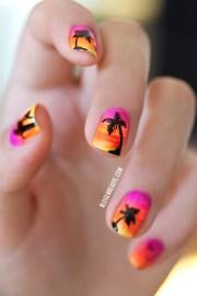 nail art sunset pauline .'s