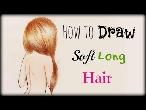 Drawing Tutorial How To Draw And Color Soft Long Hair