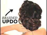 braided prom wedding bun curls