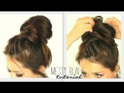 crown braid big messy bun tutorial