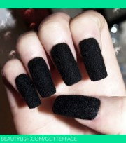 blackest black velvet nails