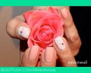 elegant rose nail design kirakiranail