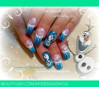 Disney FROZEN Inspired, OLAF the Snowman, Winter Nails ...