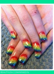 rainbow nails tammy .'s myaed76