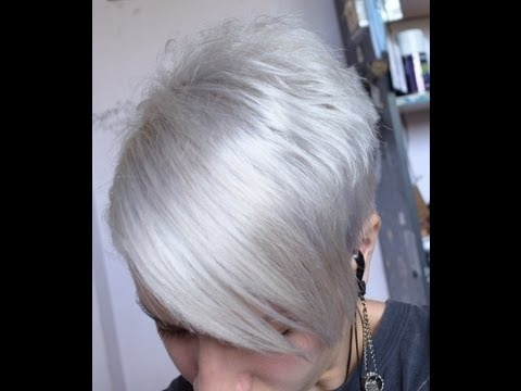 DIY White Silver AND Gray Hair How To At Home