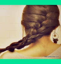 How To French Braid Over Braid - On Your Own Hair Tutorial ...