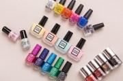 5 mini nail polishes love