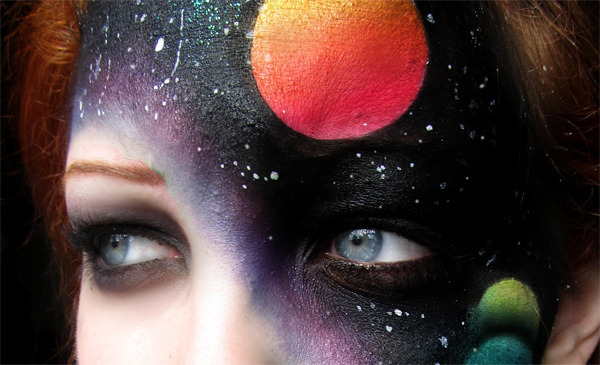Astral Projection The Coolest Galactic Face Makeup  Beautylish