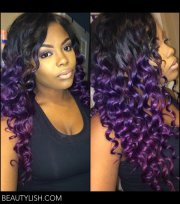purple hair shakirah .'s