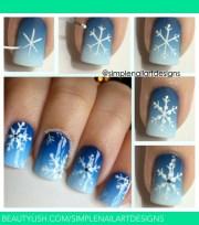 snowflake nail art tutorial simplenailartdesign