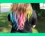 rainbow hair tips christen .'s
