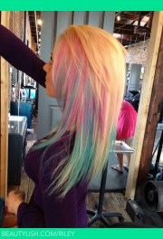 cotton candy hair riley .'s