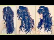 lush curly princess hairstyle